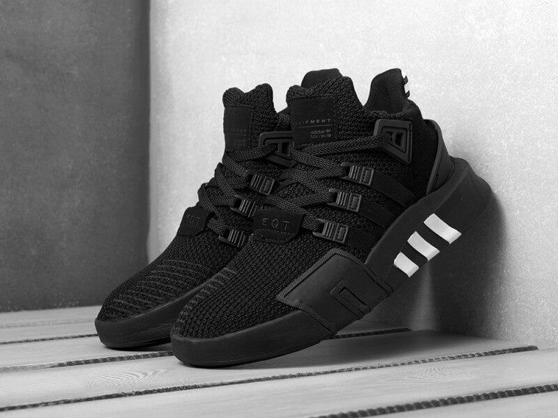 Мужские черные кроссовки Adidas EQT Bask ADV Black (Адидас ЕКТ весна/лето41-45)