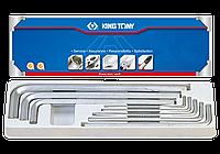 """Набор Г-образных шестигранников экстрадлинных дюймовых 1/8""""-9/16"""", 8 предметов King Tony 20208SR01"""