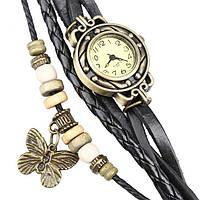 Женские часы браслет с бабочкой черные, фото 1