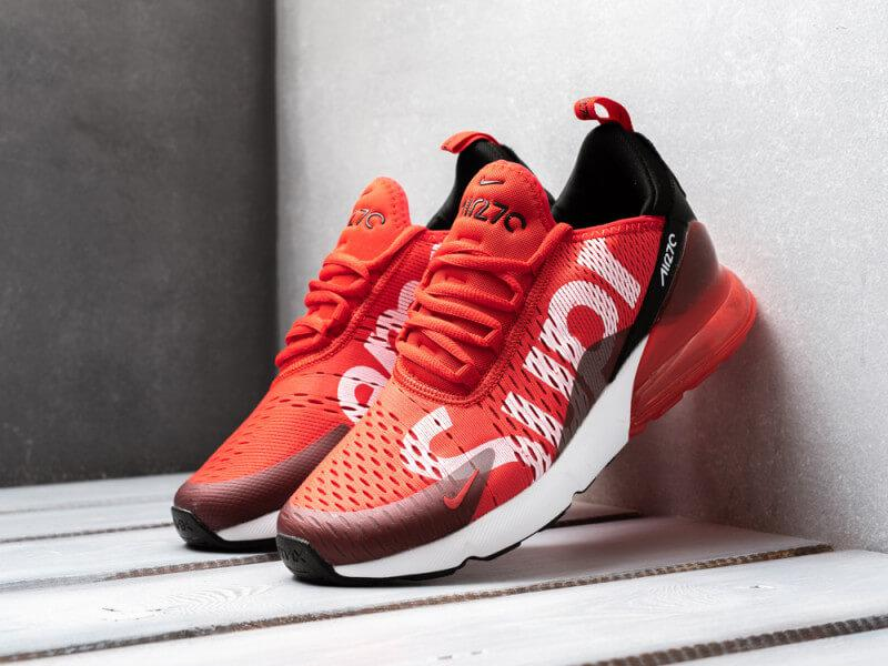 Кроссовки Nike Air Max 270 x Supreme Red Custom - Интернет магазин обуви  «im- d6106bc654d53