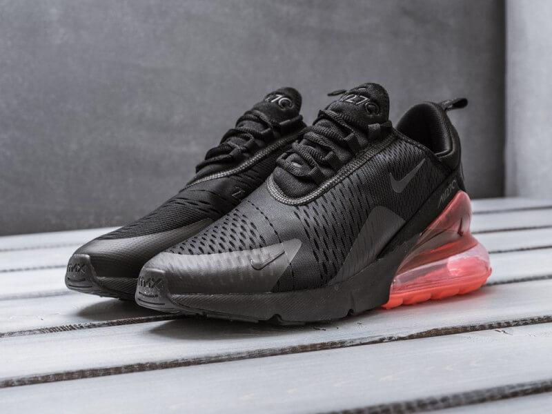 Кроссовки Nike Air Max 270 Triple Black Hot Punch купить в Киеве ... fc23d3c517e18