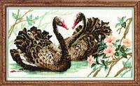 Набор для вышивки крестом Риолис 806 «Черные лебеди»
