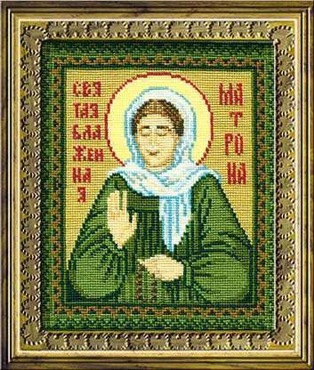 Набор для вышивки крестом Риолис 876 «Св. Блаженная Матрона»