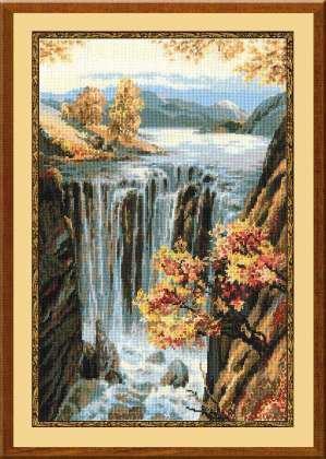 Набор для вышивки крестом Риолис 974 «Водопад»