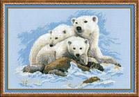 Набор для вышивки крестом Риолис 1033 «Белые медведи»