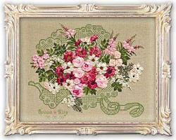 Набор для вышивки лентами Риолис 1072 «Свадебный букет»