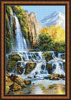 Набор для вышивки крестом Риолис 1194 «Пейзаж с водопадом»