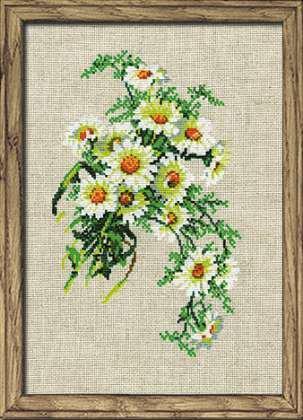 Набор для вышивки крестом Риолис 582 «Букет ромашек»