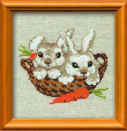 Набор для вышивки крестом Риолис 676 «Зайцы»