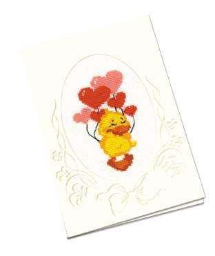 Набор для вышивки крестом Риолис 935 Открытка «С днём влюблённым!»