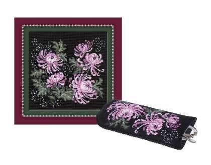 Набор для вышивки крестом Риолис 966 «Панно очёчник с хризантемами»