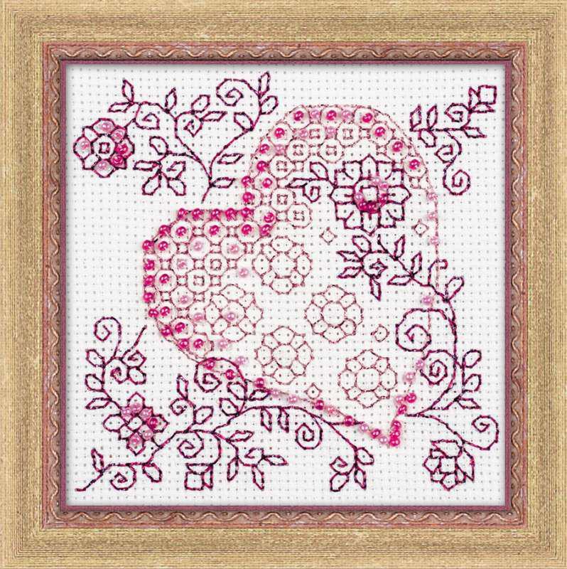 Набор для вышивки крестом Риолис 1354 «Нежное сердце»