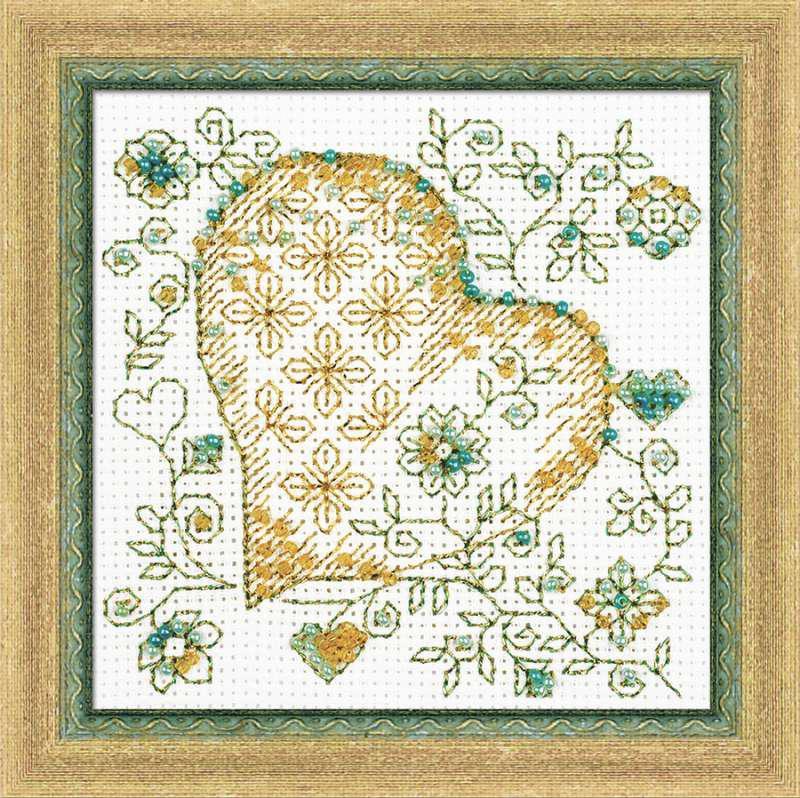 Набор для вышивки крестом Риолис 1353 «Золотое сердце»