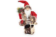 Новогодняя игрушка Санта 30.5см, цвет - красный