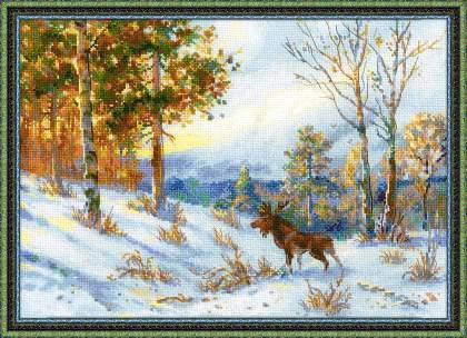 Набор для вышивки крестом Риолис 1528 «Лось в зимнем лесу»