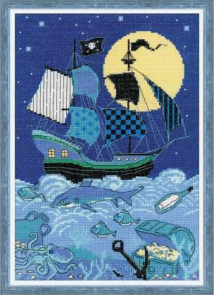 Набор для вышивки крестом Риолис 1511 «Пиратский корабль»