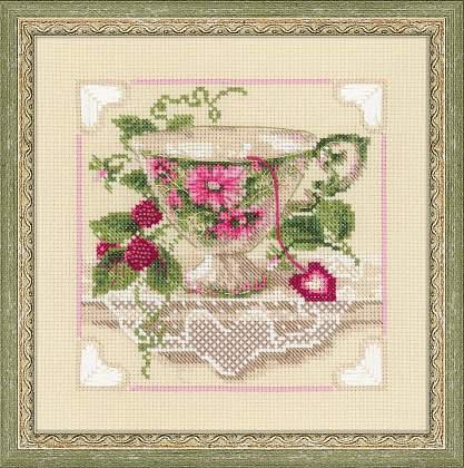 Набор для вышивки крестом Риолис 1476 «Малиновый чай»