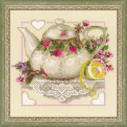 Набор для вышивки крестом Риолис 1477 «Чай с лимоном»