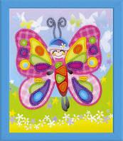 Набор для вышивки бисером Риолис РТ-0061 «Сказочная бабочка»