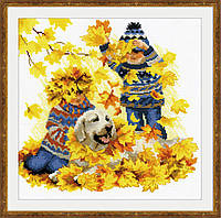 Набор для вышивки крестом Риолис 1694 «Осенние каникулы», фото 1