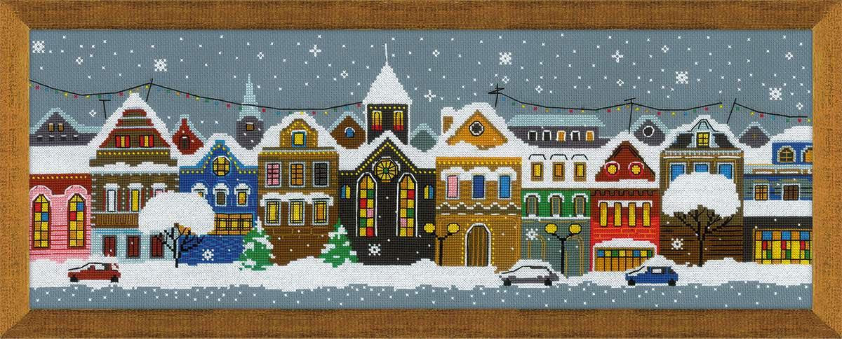 Набор для вышивки крестом Риолис 1683 «Рождественский город»