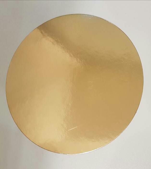 Подложка круг 32 см уплотненная 3мм, Золото/черная, 3 мм.