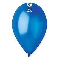 """Воздушные шары металлик синий 10"""" 26 см  Gemar Италия  5 шт"""