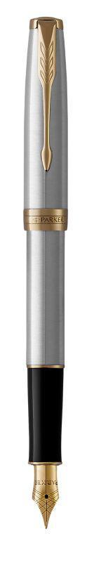 Ручка Parker Перьевая SONNET 17 Stainless Steel GT FP F (84 111)