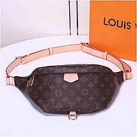 Напоясная сумка-бананка Louis Vuitton Люкс, нагрудная сумка Луи Витон, сумка от луи, сумка суприм
