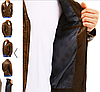 Мужская темная коричневая куртка эко-кожа  №1, фото 4