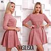 Женское замшевое платье с поясом в расцветках. ВВ-23-0818, фото 3