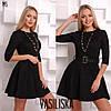 Женское замшевое платье с поясом в расцветках. ВВ-23-0818, фото 4