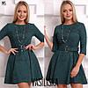 Женское замшевое платье с поясом в расцветках. ВВ-23-0818, фото 5
