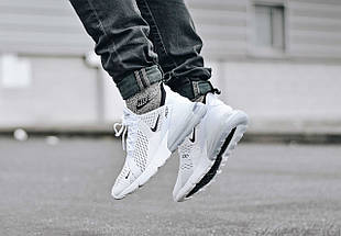 Женские и мужские кроссовки Nike Air Max 270 White, фото 3