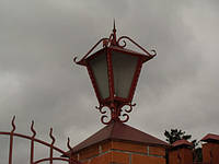 Кованые фонари для парковых столбов, фото 1