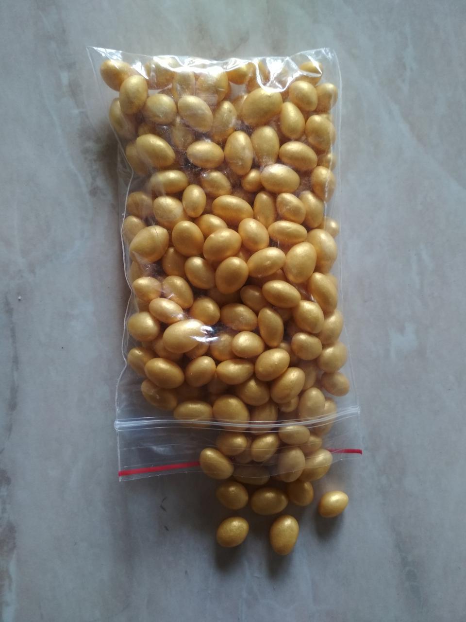 Кондитерская посыпка глазированный ВОЗДУШНЫЙ РИС 5*10 мм Золото (50 грамм)
