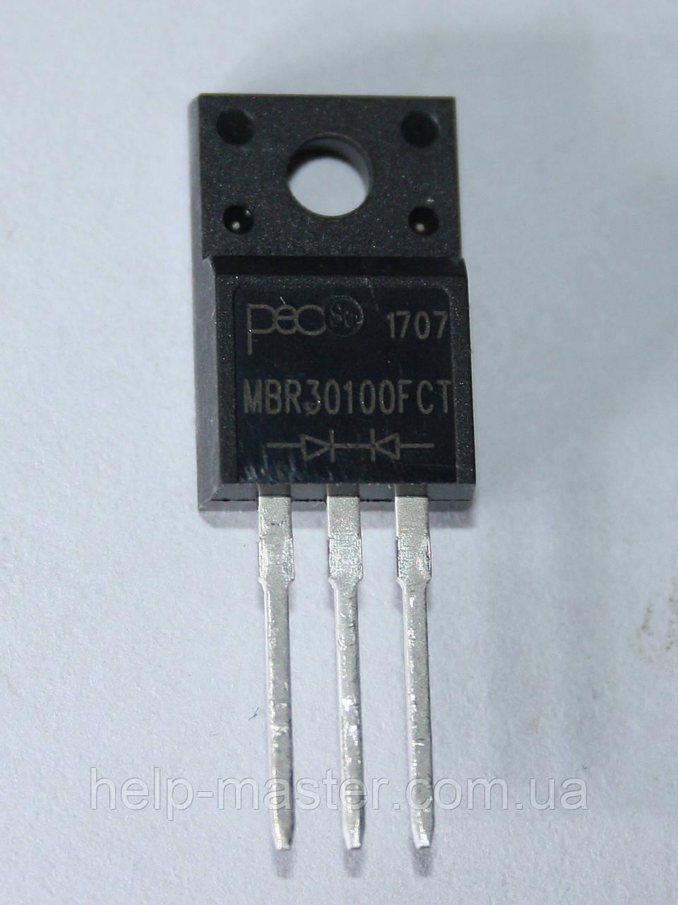 Діод Шотткі MBR30100FCT; (30A, 100В)