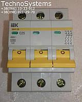 Автомат трехполюсный ИЕК  3Р 25А  на 4,5 кА хар-ка С