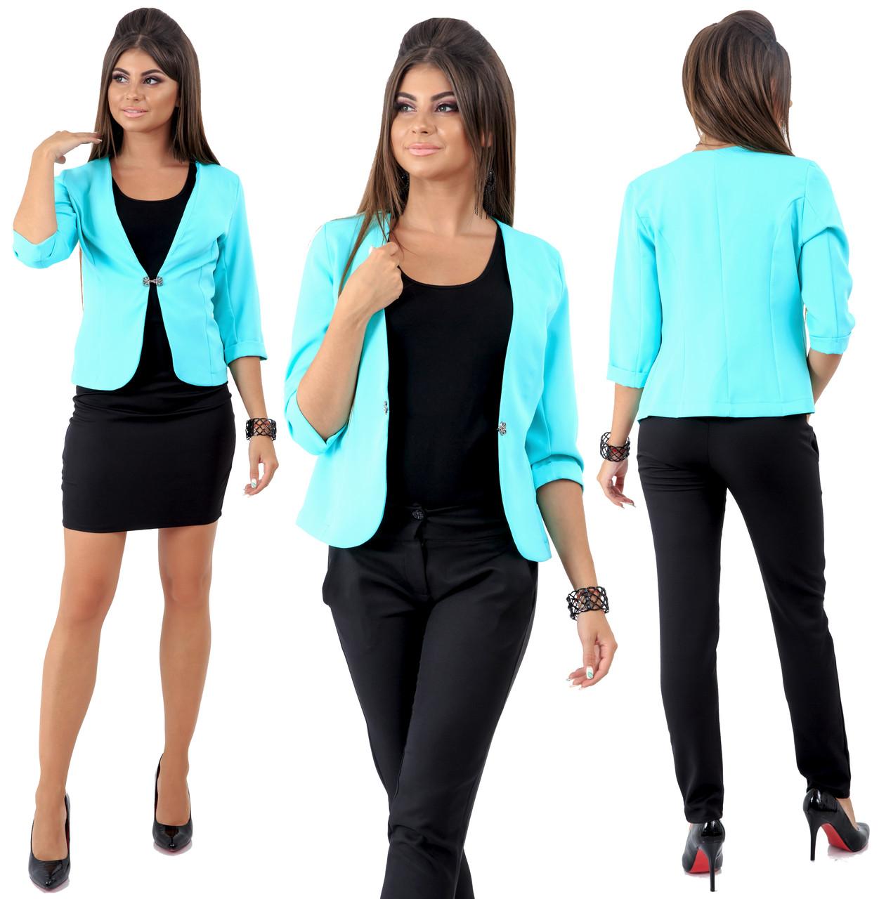 Комплект ТРОЙКА пиджак, брюки, юбка / 4 цвета  арт 6549-92