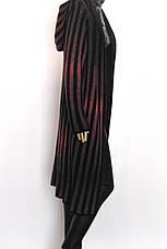 довгий вязаний кардиган з капюшоном , фото 2