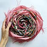 Кружевной 951-3, павлопосадский платок (шаль, крепдешин) шелковый с шелковой бахромой, фото 9