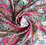 Кружевной 951-3, павлопосадский платок (шаль, крепдешин) шелковый с шелковой бахромой, фото 7