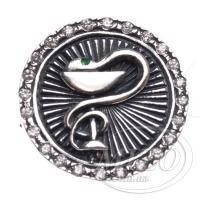 Серебряный значок Медицинская эмблема 9028