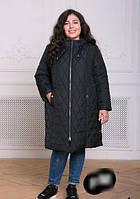 Стеганная куртка большого размера, с 54-62 размер, фото 1