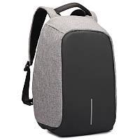 Рюкзак  Antivor с защитой от карманников со встроенным USB шнуром для павербанка ( темно-серый) Bobby