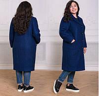 Пальто женское большого размера, с 54-60 размер, фото 1