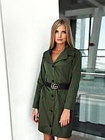 Стильное платье-пиджак с поясом (К23914), фото 1
