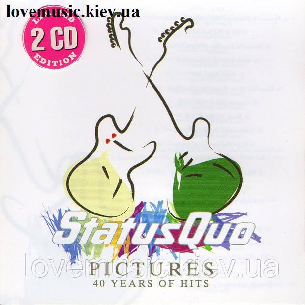 Музичний сд диск STATUS QUO Pictures 40 years of hits (2008) (audio cd)