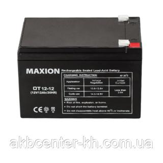 Промышленный Аккумулятор UPS MAXION 12- 12 (12V,12Ah)