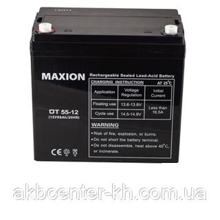 Промышленный Аккумулятор UPS MAXION 12-55 (12V,55Ah)